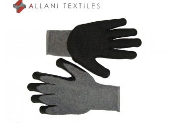 Gant Maille Couvert Latex Gris